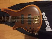 Ibanaz SR1205 5 string left handed bass guitar