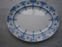 Burgess and Leigh blue and white plates