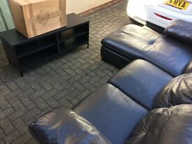 Sofa from Ikea black 'leather' and TV ting