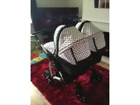 Double Dorjan twin duo pram/pushchair stroller