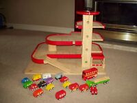 Wooden Car Park garage and extras