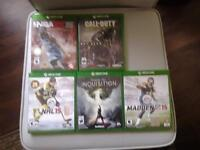 Xbox one limited edition advanced warfare console with 5 games