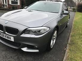 BMW 5 Series 2011 with 10 K of optional extras. Wide screen SatNav, sunroof, heated leather