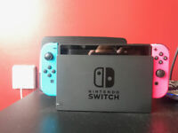 Switch Console, + 2 Neon Red/Blue and Green/Pink Joy-Cons, Boxed - Mint Condition