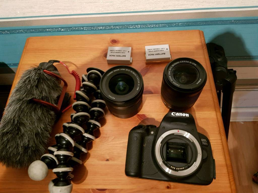 Canon D700 with accessories