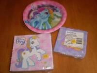 MY LITTLE PONY PLATES AND NAPKINS