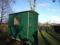 Small Shepherds Hut ideal for garden office, playhouse, garden camping with electric/gas connections
