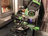 Evolution fury 3, 210 mm electric mitre saw.