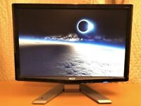 Acer P191W Widescreen Monitor 19 inch VGA DVI / Excellent condition / HDMI to DVI cable / EU adaptor