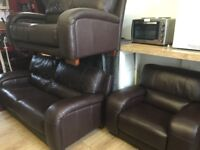 Quality exgillies secondhand leather suites from £375