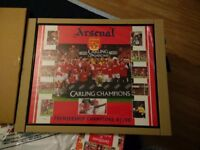 Framed Arsenal Picture - 97/98 Premiership Winners