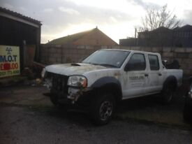 2005 NISSAN NAVARA D22 2.5 TD WHITE YD25 BREAKING FOR PARTS AND SPARES