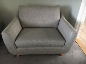G Plan The Sixty Seven Snuggler Seat in Grey Marl