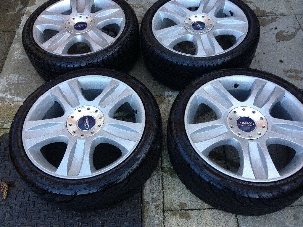 "Ford Focus mondeo transit connect 18"" alloy wheels 5stud all very good tyres"