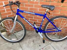 "Medium all terrain MTB gravel path city friendly shimano eq great commuter/explore bicycle 18""frame"