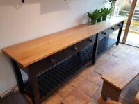 Bespoke Solid Oak Topped Sideboard / Half Dresser