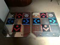 Pair of DDR METAL DANCE MATS PAD PC XBOX PS2