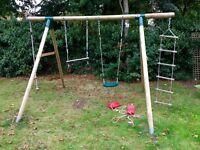 PLUM - Wooden Outdoor Double Swing Set
