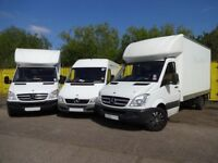 24/7 Luton Van & Truck Hire Rent for House Office Moving removals COURIER DELIVERY 2 or 3 MAN