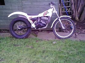 trials yamaha ty 250 air cool mono with disc brake