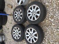 Volkswagen Alloy Wheels with tyres