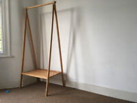 Bamboo cothes rail / wardrobe - excellent condition