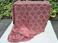 Vintage Raspberry brocade fabric over 8 m x 130 cm wide