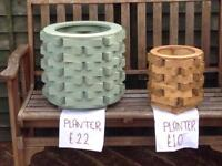 New wooden flower planters