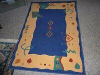 Carpet, Rug, Aztec Pattern, Size Approx 160cm X 112cm