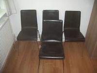 4 Habitat chairs