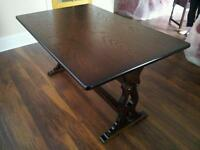Dark refectory old charm style dining table