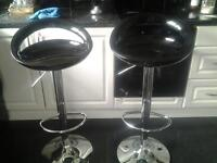 black and chrome gas lift chairs........