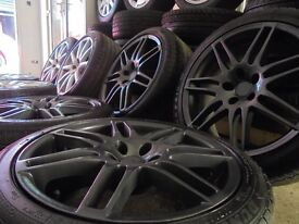 "18"" rs4 S LINE gunmetal alloys wheels audi a4 a6 a8 a3 5x112 golf vw caddy t4"