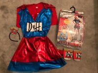 Duff man women's fancy dress costume. Been worn once size 8-10