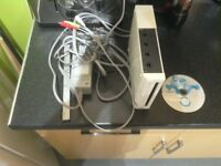 Nintendo Wii console with 1 game and power pack with leads but no controllers gwo