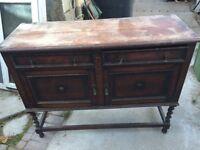 Oak / hardwood period cabinet - upcycle / restoration potential