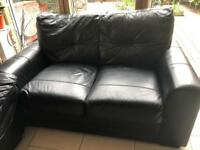 2 seat faux leather sofa