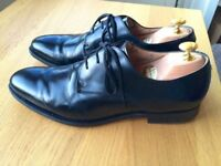 Churches Paris Capital Black leather mens handmade formal shoes, size 9.5F, RRP £310