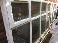 PVC white leaded windows + lintels
