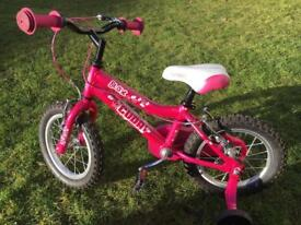 "Pink Cuda Blox 12"" bike with stabilisers"