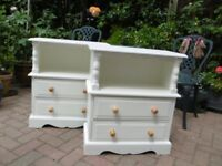 Pretty Bedside Table (2 Available) REFURBISHED VGC HORNCHURCH ESSEX
