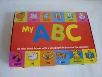 Children's Books - My ABC Case; (Set of 24 Chunky Mini Block Books and Playboard)