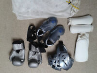 Sparring gear for Tae Kwon Do or Kick boxing, price is for 1 set: child/adult f/adult m