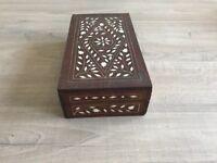 Antique inlaid trinket box