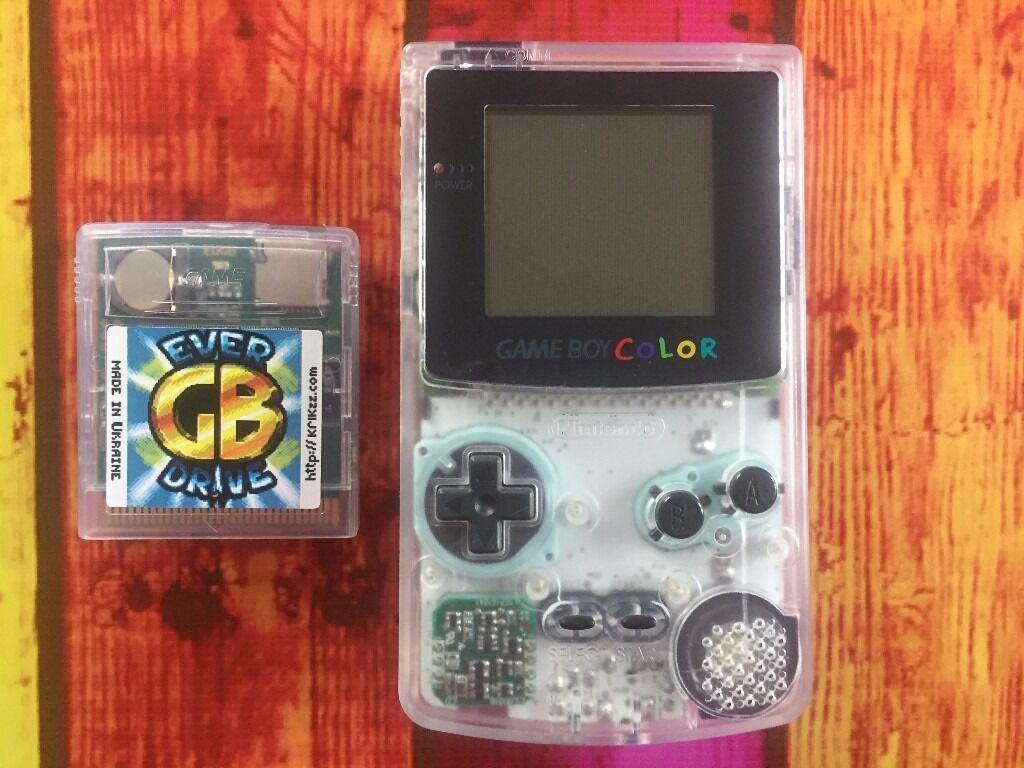 Game boy color everdrive - Nintendo Gameboy Color Krikzz Gb Everdrive Rom Cart Clear Transparent Gbc