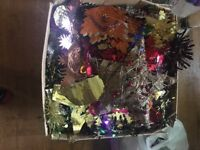 Box of Christmas decorations for sale £40 or make me an offer