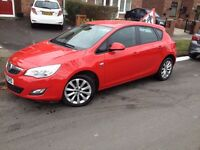 vauxhall astra 2012 1.4i active special edition, 40500 miles
