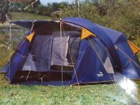 EASY CAMP RAVENNA 600 6 - 10 PERSON 4 ROOM TENT IN EXCELLENT CONDITION