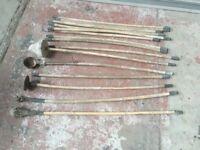 Vintage Chimney Sweep Rods - Shop Display Design