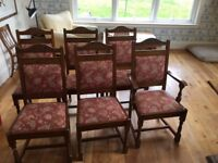 Set of 8 matching dining chairs (including 2 carvers)